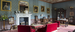 View of the West Drawing Room, Oxburgh Hall, Norfolk.