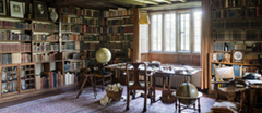 The Study at Bateman's, East Sussex. Bateman's was the home of the writer Rudyard Kipling from 1902 to 1936.
