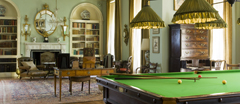 The Billiard Room, designed by Ambrose Poynter in 1903-5, at Polesden Lacey, nr Dorking, Surrey.