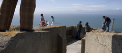 Visitors at The Needles Old Battery, Isle of Wight.