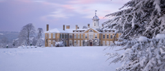 Polesden Lacey, a Regency country house near Dorking, Surrey, in the snow.