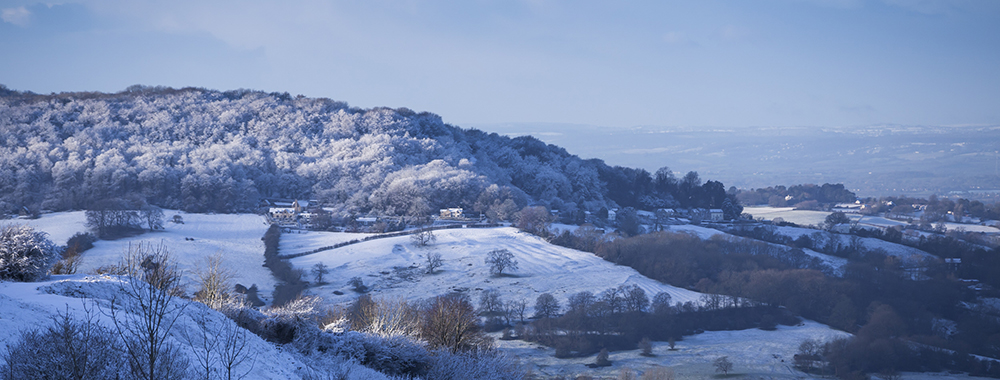 A winter's day at Crickley Hill, Gloucestershire.