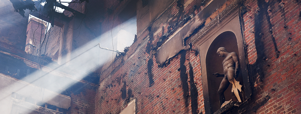 The devastating fire at Clandon Park